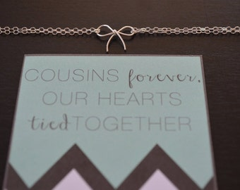 Gift for Cousin / Cousin Jewelry / Valentines Day Gift / Sterling ...