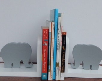 Handmade Elephant Bookends - Children, Nursery Bookends