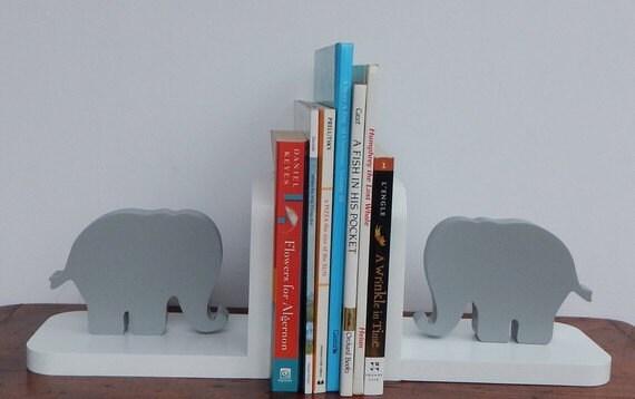 fait la main l phant serre livres enfants nursery. Black Bedroom Furniture Sets. Home Design Ideas