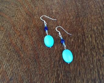 Earrings with Lapis Lazuli