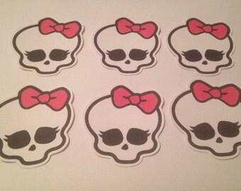"""Monster High Skulls -Die Cuts- 4"""""""