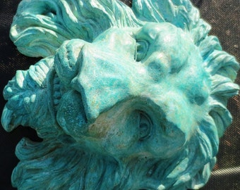 Garden Guardian Lion Hand-Sculpted & Cast for Home Decor, by Claybraven