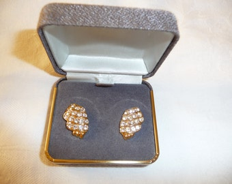 Vintage Trifari Rhinestone Post Earrings