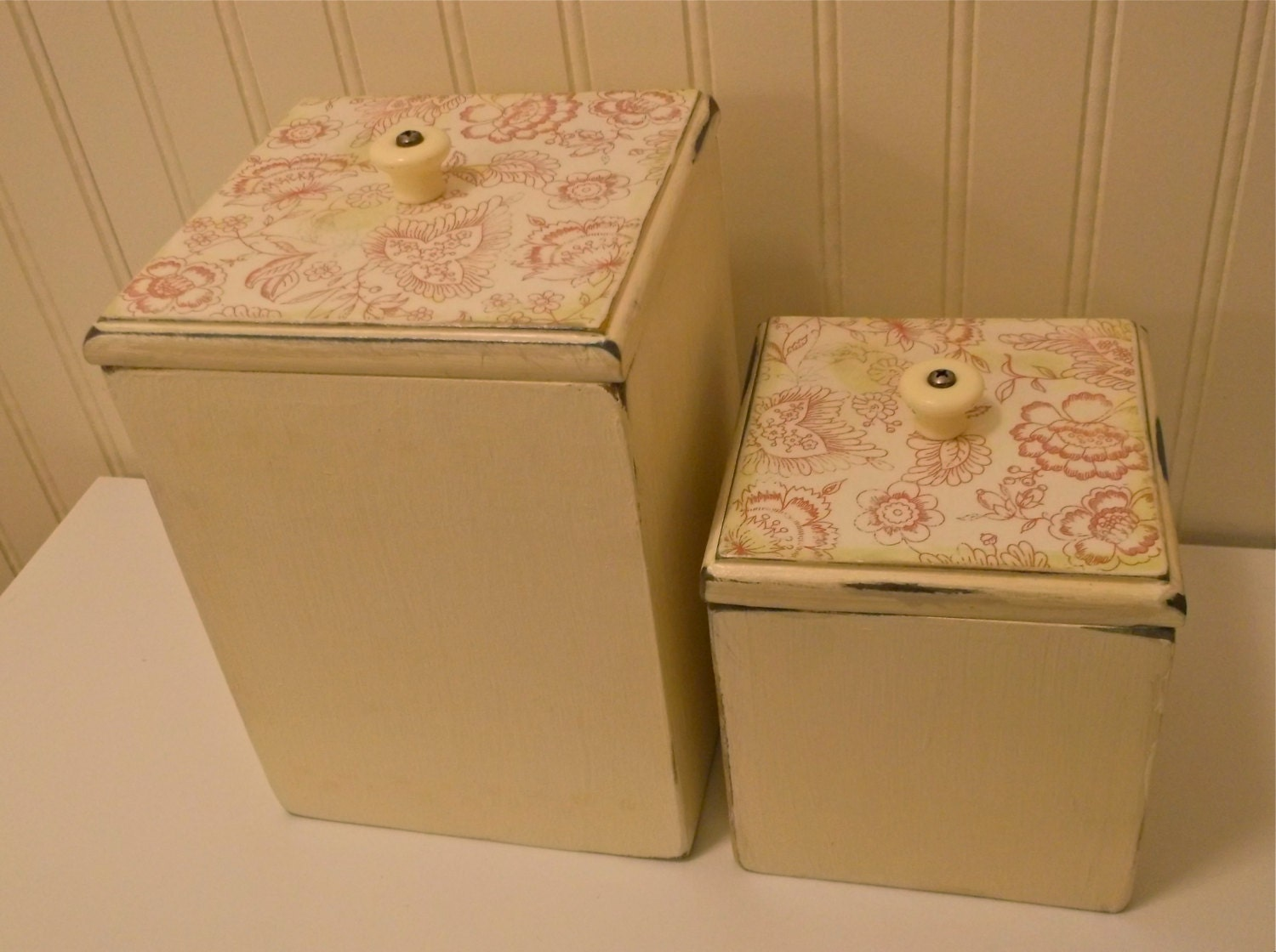 kitchen canisters red floral kitchen canisters french