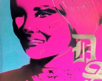 black light poster art of Dark Shadows actor Nancy Barrett