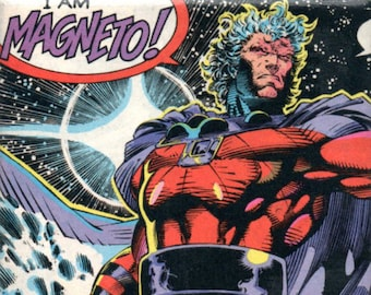 Comic Book Coaster - Xmen Coaster - Magneto Coaster - Wolverine - Marvel Comics - Metal Control - Telekinesis - Trivet or Beverage Coaster