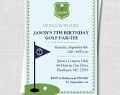 Custom Preppy Golf Birthday Invitation - Golf Themed Party - Boy Birthday - Digital Design or Printed Invitations - FREE SHIPPING