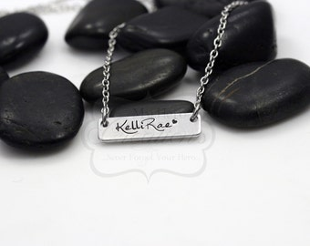 Hand-Stamped Personalized Bar Name Necklace