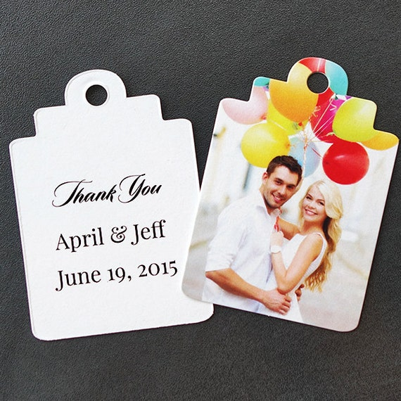 Wedding Favor Tags Messages : 50 Wedding favor tags with personalized message and photo. Design it ...