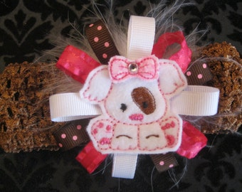 Luv Puppy Crochet Headband