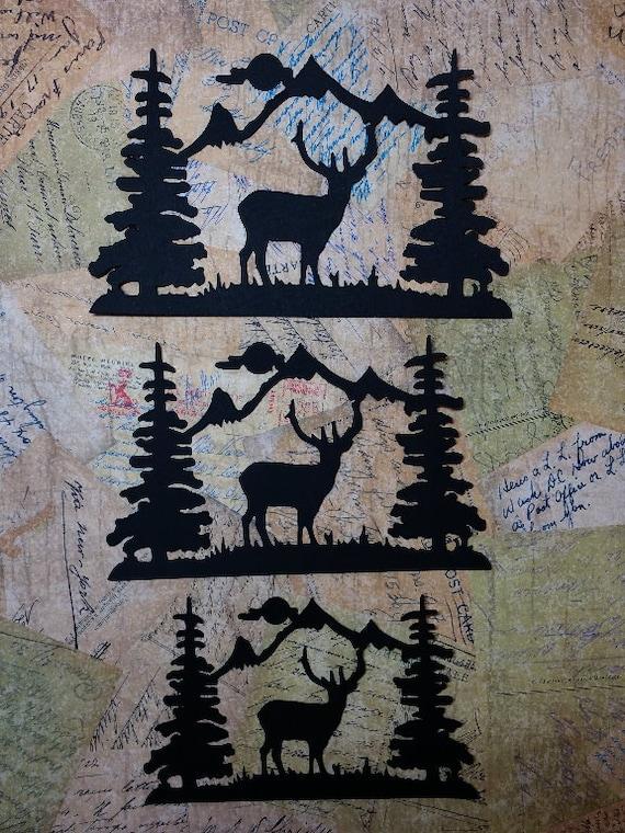 Deer scenery silhouettes a 45 from cherokeetreasures on for Deer scenery
