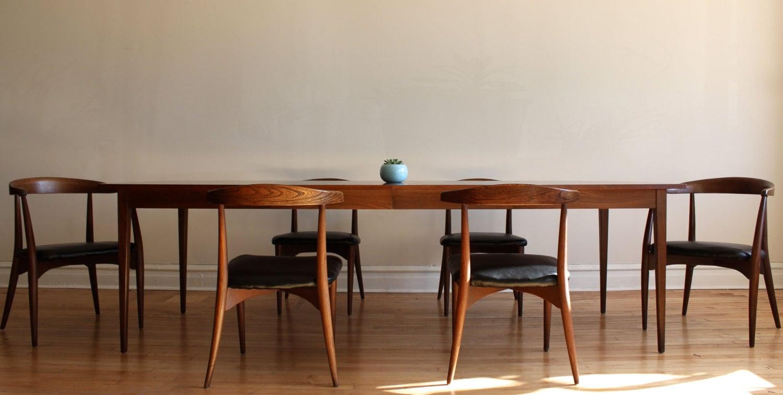 lawrence peabody mid century modern dining set. Black Bedroom Furniture Sets. Home Design Ideas