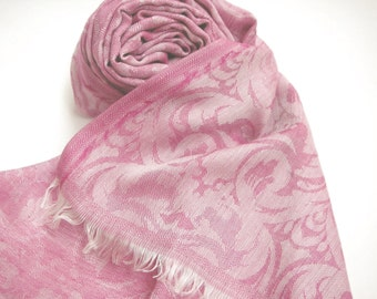 All Over Self Jacquard Reversible Modal Scarf / Stole