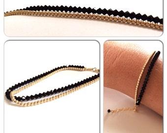 Bracelet gold filled beads