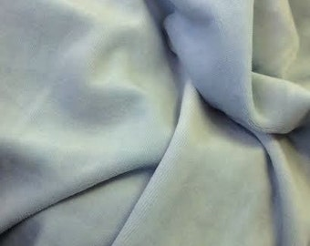 """Baby Blue Velvet Fabric, Width 57"""", Material Sold By the Yard, Sky Blue Home Decor Accent"""