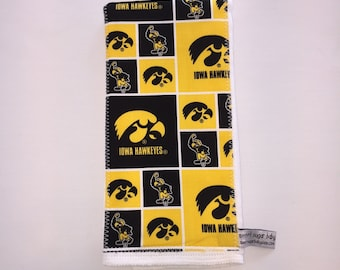 One IOWA HAWKEYES Burp Cloth