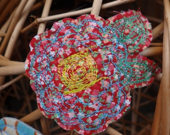Fabric Brooches