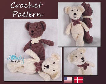 Amigurumi Pattern, Teddy Bear, Stuffed Animal Crochet Pattern, Crochet Tutorial, Pdf Pattern, CP-106