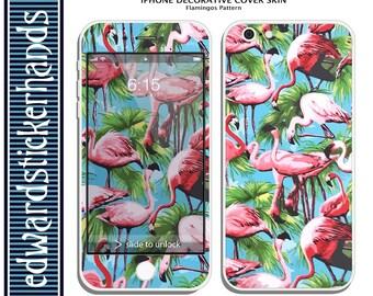 iPhone Decorative Cover Skin - Flamingo Pattern!