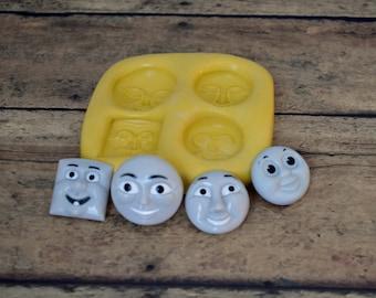Silicone thomas train faces