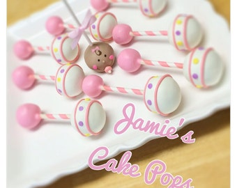 Baby Rattle / Baby shower Cake Pops