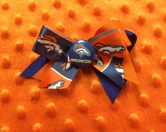 Bronco hair bow
