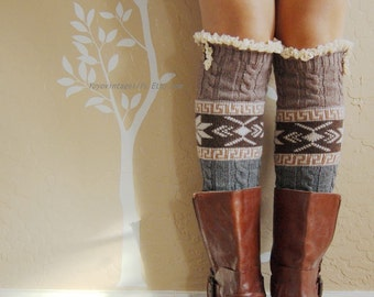 Birthday gift for her,Beautiful Lace Leg Warmers,very warm leg warmers with cute cotton lace. leg warmers,boots long cuffs.Birthday gift