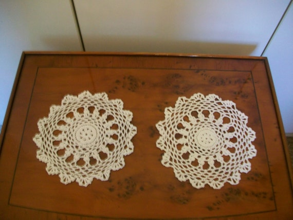 Items Similar To A Pair Of Vintage Lace Doilies Unused