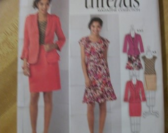 Simplicity 2263 Misses size (K5 8, 10, 12, 14, 16) & )U5 16,18,20,22,24)Jacket, top and skirts