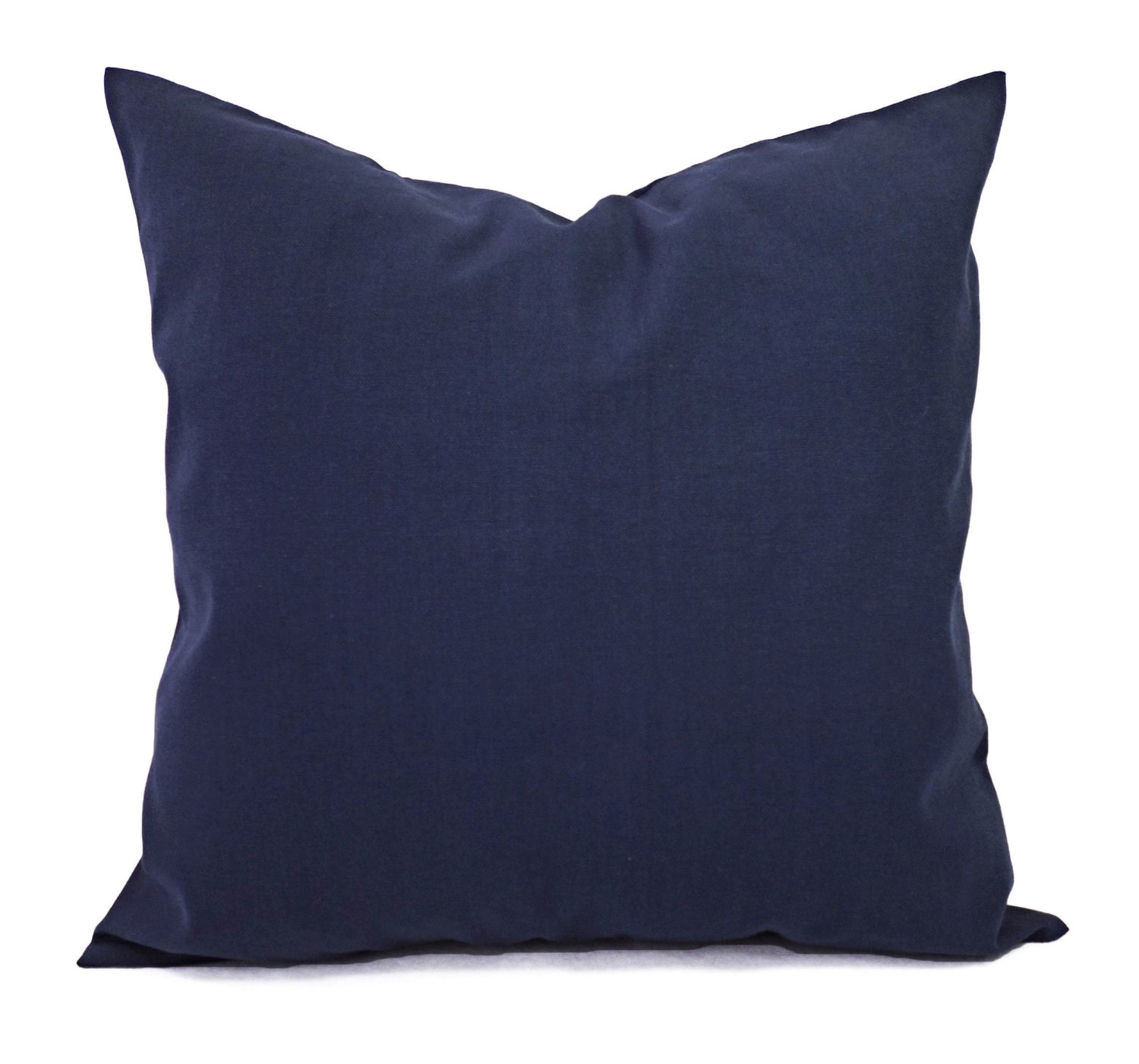 Decorative Pillows Navy : Two Solid Navy Throw Pillow Covers Navy Couch Pillow Covers