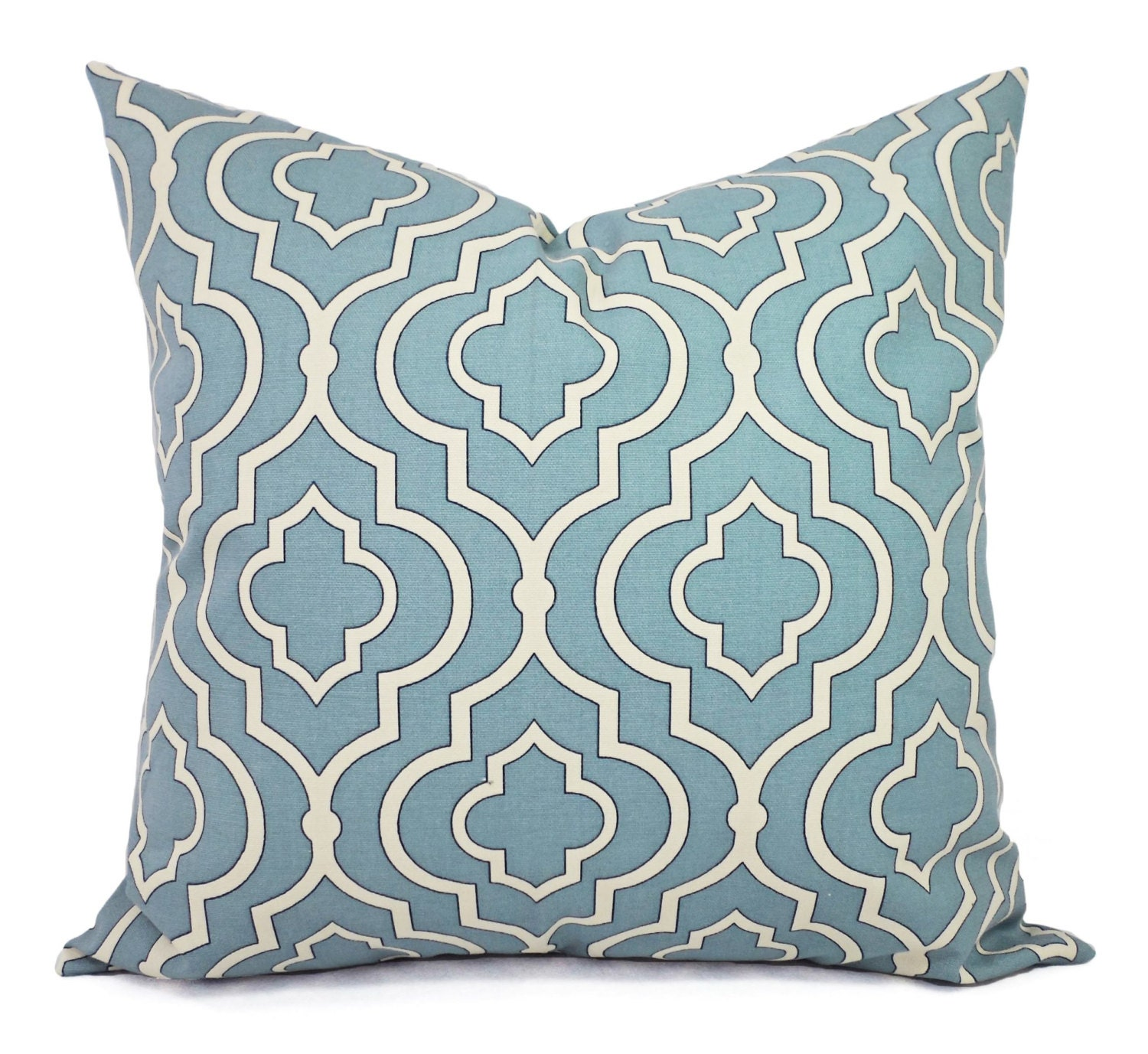 Two Blue Decorative Pillow Covers Pillow Cover Spa Blue