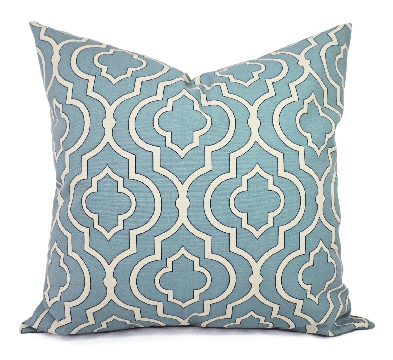 Spa Blue Throw Pillows : Two Blue Decorative Pillow Covers Pillow Cover Spa Blue