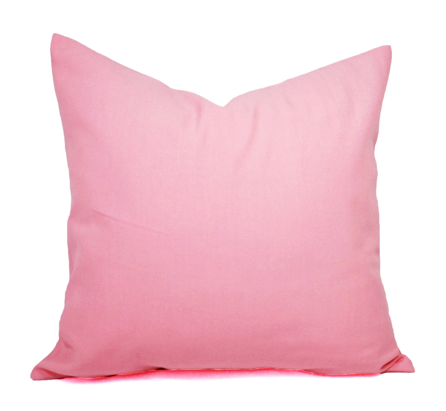 Baby Pink Decorative Pillows : Two Baby Pink Pillow Covers Solid Pink Pillows Pink Throw