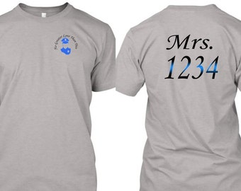 Law Enforcement Wives T-Shirt  Mrs