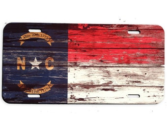 North Carolina Vintage License Plate