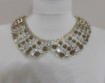 detachable peter pan collar necklace beads bridal wedding christmas gift for her
