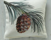 Larico Pine Sprig Scented Pillow Filled with Local Maine Balsam