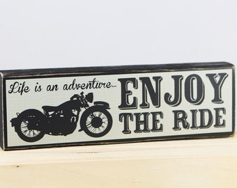 Life is an ADVENTURE - ENJOY the RIDE - Wood Block