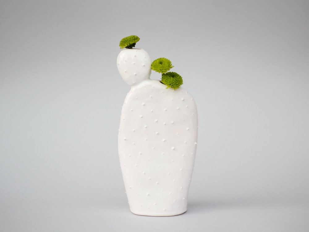 original keramik kaktus geformte vase handgemachte gef. Black Bedroom Furniture Sets. Home Design Ideas