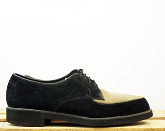 Vtg 90s Suede Two Tone Platform Oxford Creepers size 7.5
