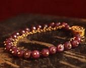 a b u e l a ~ ruby 14k gold fill bracelet