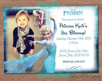 Frozen Birthday Invitation Digital Download