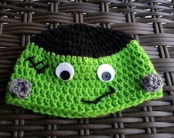 Crochet Frankenstein Hat