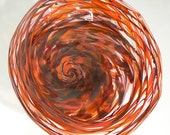 Shades of Red Hand Blown Art Glass Wall Platter / Bowl Decorative and Functional