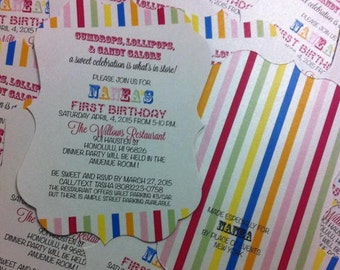 Candyland Invitation Candy Invitation Candyland birthday Party Candy Birthday Party Candy Theme Candyland Theme Candy Land Invitation