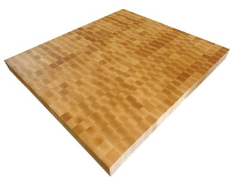 End Grain Hard Rock Maple Butcher Block Countertop - Island - Custom Sizes Available