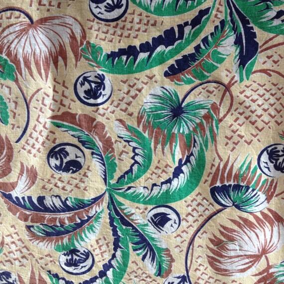 vintage tropical print