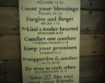 Home Rules - Primitive Scripture Pine Wood Sign | Country | Rustic |