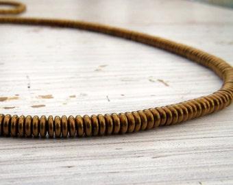 Solid brass hishi disc beads - 1.5 x 5mm hishi disc spacers (40) 1.5 x 5mm, brass beads, spacer beads, heshi beads