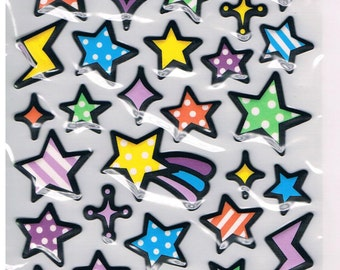 Stickers, 1 sheet , stars (1608)